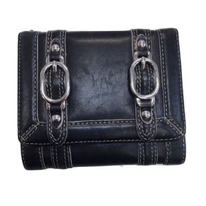 Cole Haan Black Buckle Leather Wallet